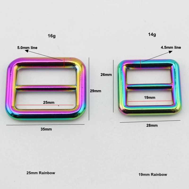 10 шт. 50 шт. Высокое качество 19 мм 25 мм сумки Сумки длинный плечевой ремень регулировки сварные пряжки, сплав слайдер Tri-glide аксессуар