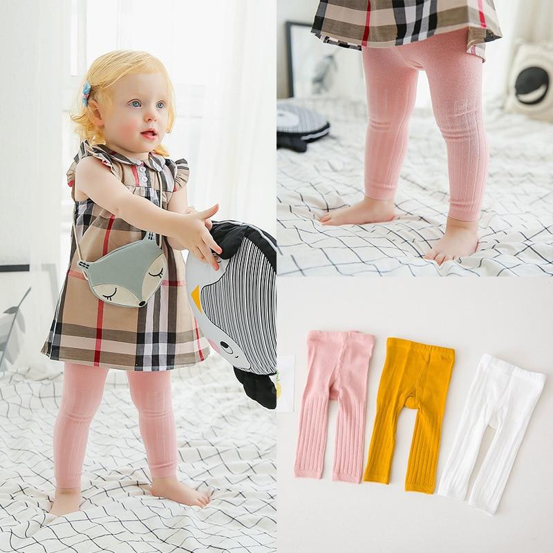 0-24m Baby Girl&Boy Leggings  Kids Cotton Dobby Solide Color Regular Mid Elasic Waist Cute Pants