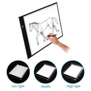 Image 2 - A4 ขนาดคณะกรรมการการวาดภาพ LED Lightbox กล่อง USB Power Cable Dimmable LED ความสว่าง Artcraft Tracing Light Pad