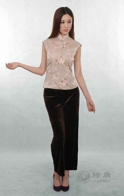 2012 New Oriental blouse/Tang suit/Top/Chinese T-shirt/Traditional costume/Chinese clothing/Up garment/Embroidery/Aisan apparel