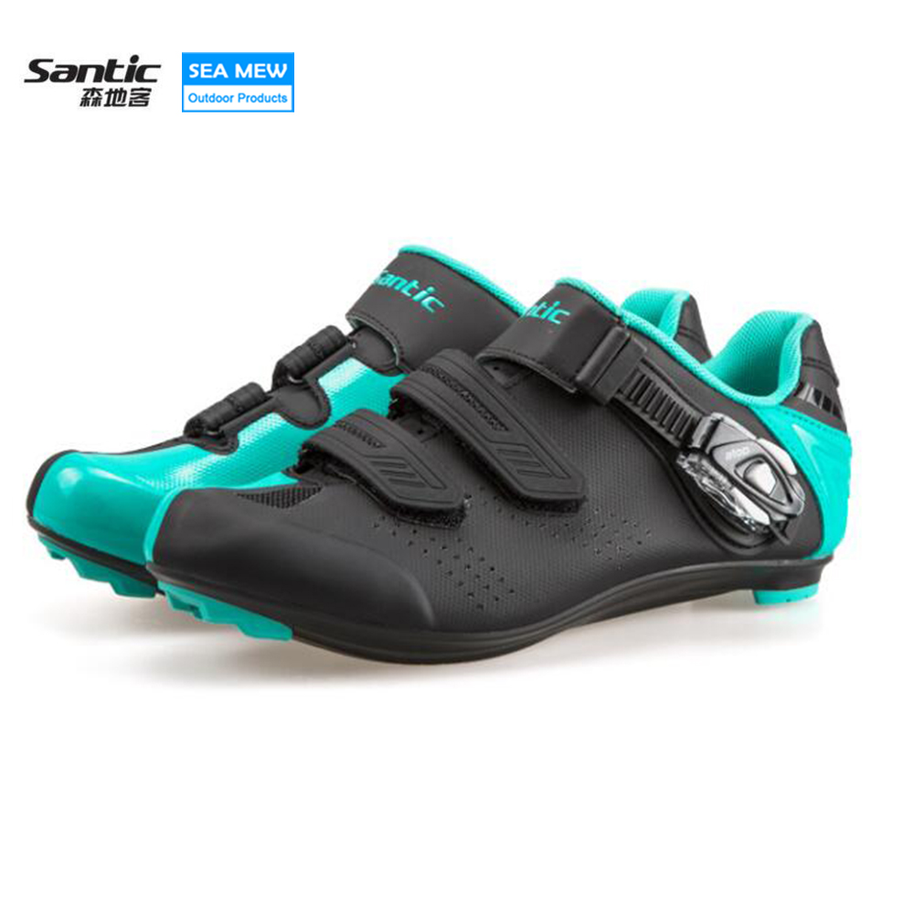 SANTIC Unisex Bicycle Road Cycling Shoes Breathable Light Wearable Non-Slip Road Bike Adjustable Lock Shoes Ciclismo Bicicleta santic men road cycling shoes outdoor sports breathable road bike shoes auto lock bicycle shoes zapatillas ciclismo