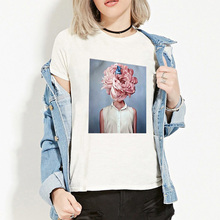 ZOGANKI Summer New Style Women Tshirt Print Short Sleeve Round Neck Tops Slim Fit T-shirts Female Casual Tees Shirt