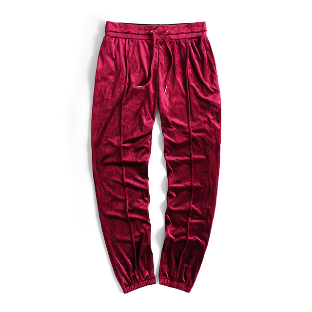 Kanye West Joggers Solid Velvet Loose Pants 2017 Streetwear Men and Women  Lovers Solid Color Pant 9e5fa078fd1d