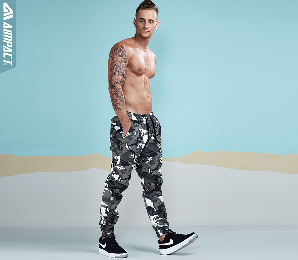 Aimpact 2017 New Men`s Casual Camo Pants Cotton Chino Jogger Pants (7)