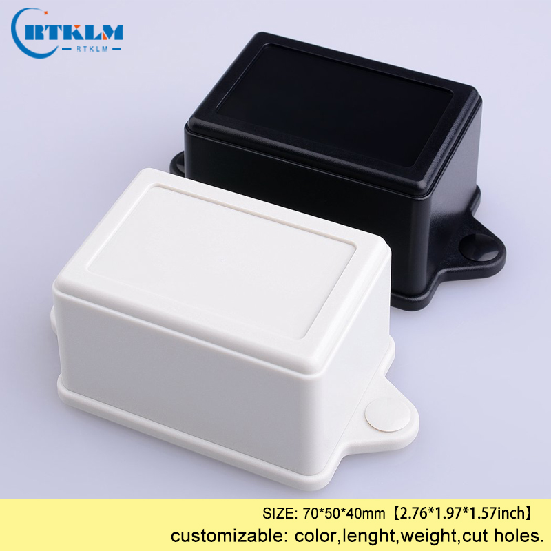 ABS plastic project case plastic electrical box wall mounting juntion box IP54 plastic enclosure wire connection box 70*50*40mm image