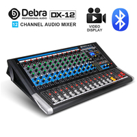 Debra Audio DX 12 12 Channel Audio Mixer dj controller Sound Board with 24 DSP Effect USB Bluetooth XLR Jack Aux Input