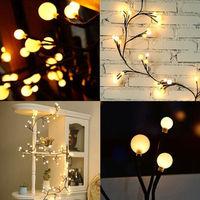 30 LED Solar Powered Ball Bulb String Lights Willow Branch Lamp Light Sensor Lamp Garden Yard Home Party Decoration Waterproof