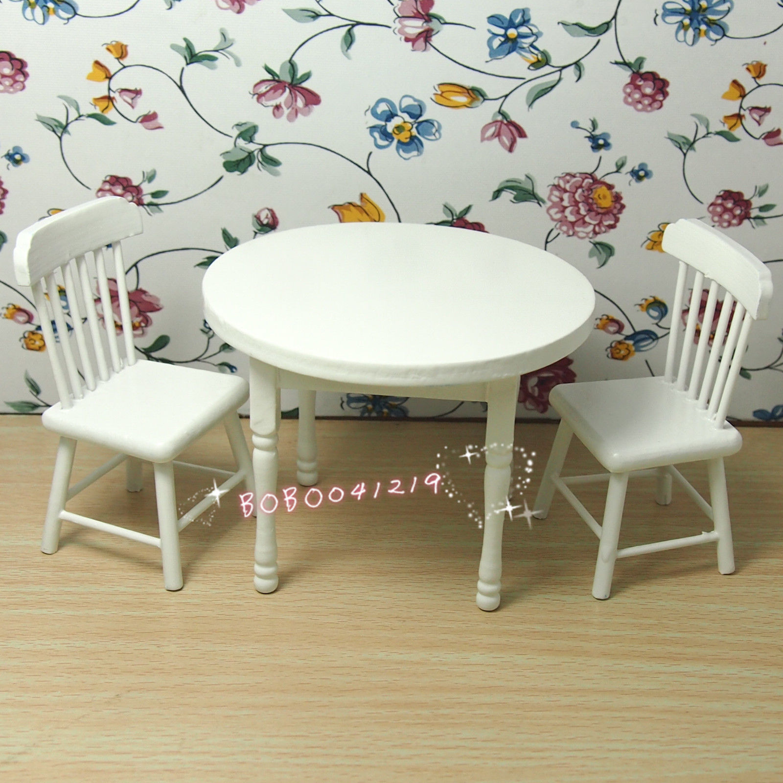 Dollhouse Miniature 1 12 Living Room Wooden White Round