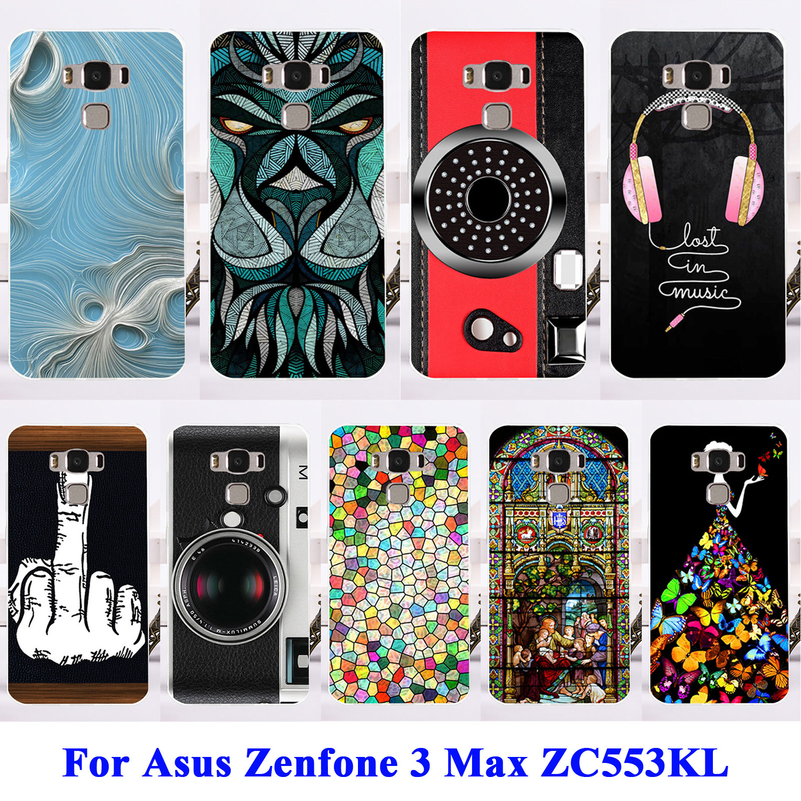 reputable site 911d2 cbc9e US $2.22 |AKABEILA Soft TPU Plastic Cases For Asus Zenfone 3 Max ZC553KL  ASUS X00DD X00DDA XOODD Zenfone3 Max 5.5 inch Bags Shell Covers-in Fitted  ...