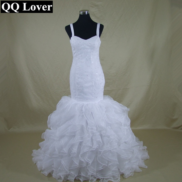 QQ Lover New African Mermaid Gown Wedding Dress 2019