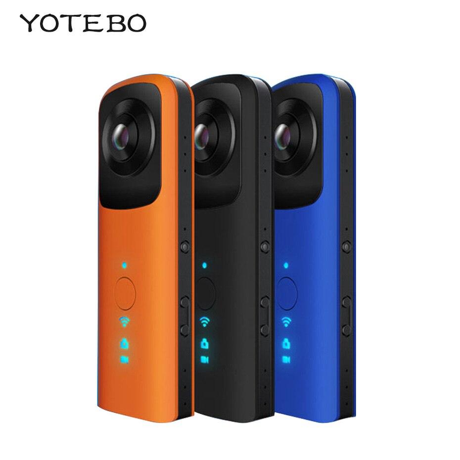 360 Panoramic Dual Angle WiFi 220D Fisheye Lens 0 96 LCD Screen Camera Mic Speaker VR