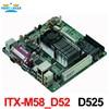 Factory Wholesale AtomD525 DC12V POS Board M58 D52 ATOM D525 1 8G Dual Core Low Power