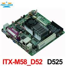 MINI ITX Industrial mainboard ITX M58 D52 D525 dual core 1 8G Processor 1 font b