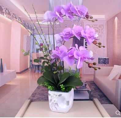Fleurs artificielles Simulation de Phalaenopsis fleurs ameublement décoratif fleur suite salon - 4
