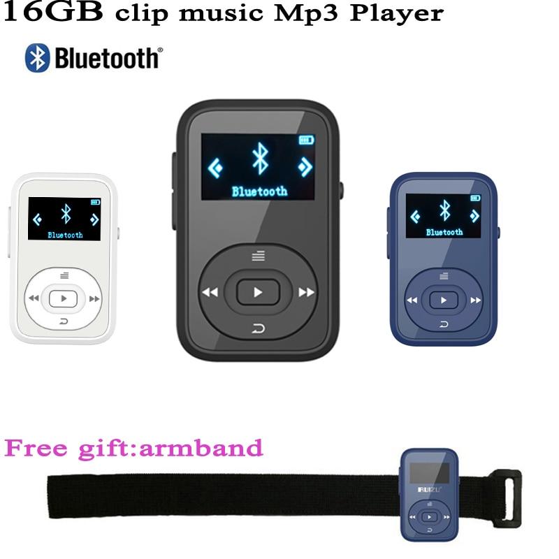 Mini Clip MP3 RUIZU X26 MP3 player Bluetooth 8GB Sport Mp3 Music Player Recorder FM Radio Support SD Card zuname штабеля mp3