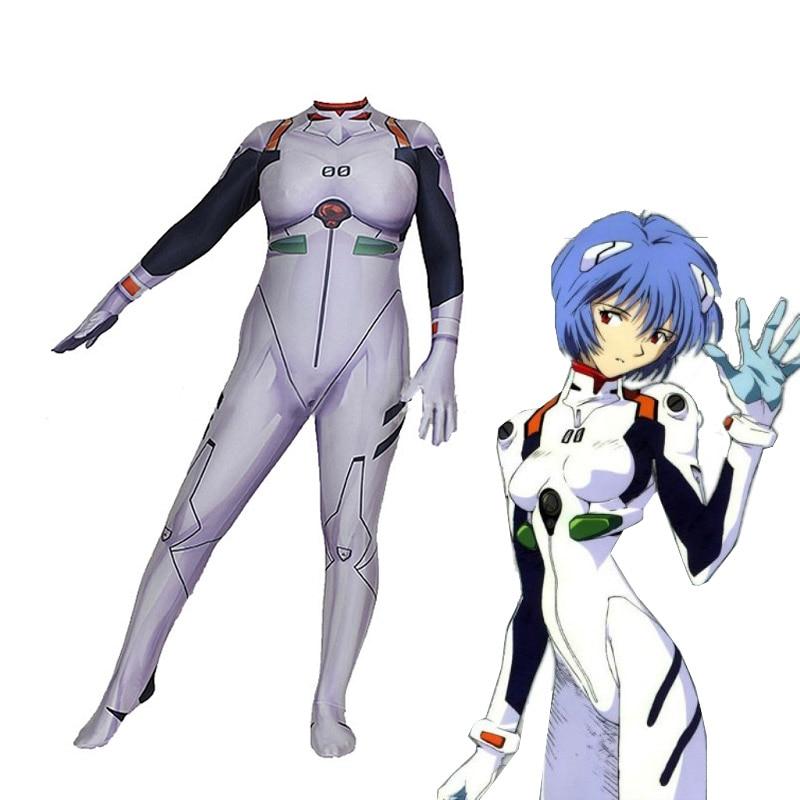 Anime Neon Genesis Evangelion EVA Ayanami Rei Cosplay Costume Women Long Sleeve Sexy Slim Romper Jumpsuit Bodysuit смазка runway 450 мл литиевая аэрозоль белая rw6133