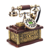 Retro phone home decoration gifts villa place good luck resin handicraft business gifts Vintage telephone