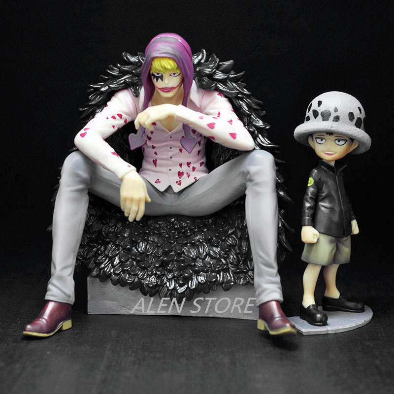 2pcs/set Action Anime One Piece Trafalgar Law Heart Corazon 12-16cm Figure PVC Collection Hobby Model Doll Best Gift Cosplay Toy anime one piece fire fist ace handsome model garage kit pvc action figure classic collection toy doll