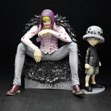 2pcs/set Action Anime One Piece Trafalgar Law Heart Corazon 12-16cm Figure PVC Collection Hobby Model Doll Best Gift Cosplay Toy
