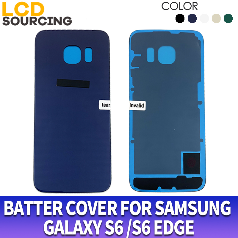 Battery Cover For <font><b>Samsung</b></font> <font><b>Galaxy</b></font> <font><b>S6</b></font> edge G925 Back <font><b>Glass</b></font> Battery Housing Cover <font><b>Replace</b></font> for <font><b>S6</b></font> edge plus G928 Battery Cases image