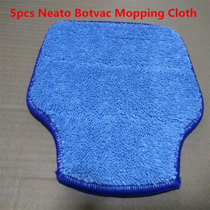Acheter 5 pcs Neato Botvac pour XV 11/XV 12/XV 14/XV 15/XV 21 Botvac D85/80/75 D70e Aspirateur Éponger Tissu Microfibre De Nettoyage Pad de neato botvac fiable fournisseurs