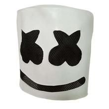Marshmello Mask marshmello Helmet DJ Costume Head Marshmallow Latex PVC Cosplay Adult party Halloween mascara maska carnaval