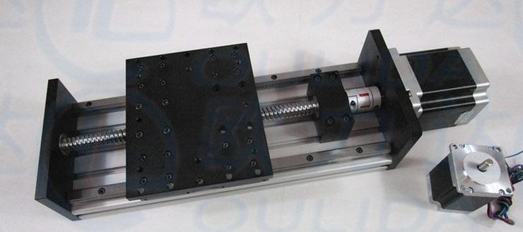 GX155 150 Ballscrew 1605 1610 100mm Travel Linear Guide Nema 23 Stepper Motor brake CNC Stage