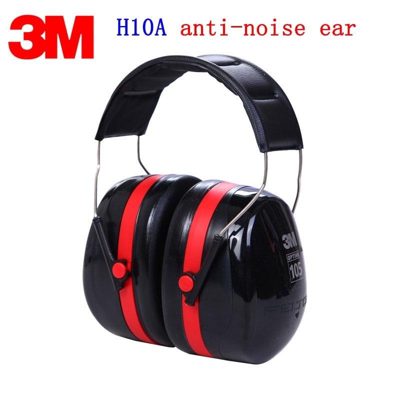 3M H10A 105 Wearing style Earmuffs Genuine security 3M ear defenders against Shooting training Racing car