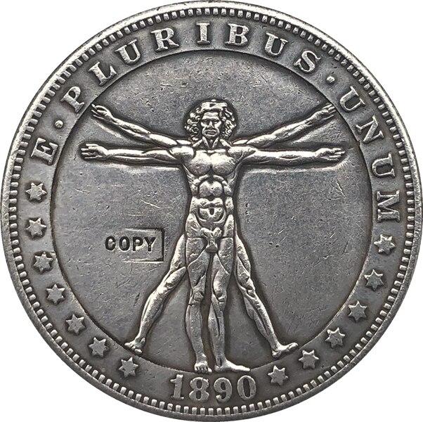 Hobo Nickel  1890-CC USA Morgan Dollar COIN COPY  Type 108