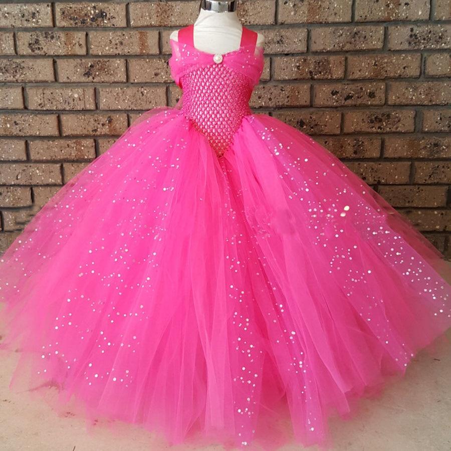 Girls Blue Glitter Princess Tutu Dress Elsa Inspired Kids Rhinestone Wedding TUTU Ball Gown Children Prom Birthday Party Dress 3