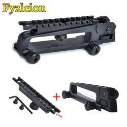 M4 m16 ar15 탈착식 캐리 핸들 및 후방 시력/picatinny rail mount combo