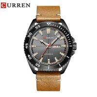 2017 New CURREN 8272 Top Brand Luxury Watch Men Date Display Fashion Leather Quartz Wrist Watches
