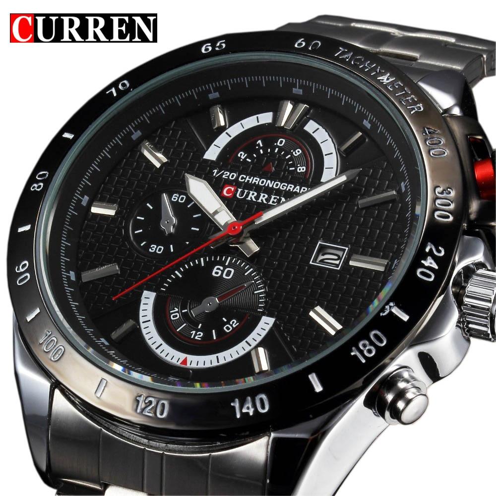 Prix pour Luxe Famous Brand complet en acier inoxydable Strap sport analogiques hommes Quartz montres Casual montre - bracelet relogio masculino homme nouveau