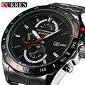 Luxo famosa marca completa de aço inoxidável Strap analógico Sports dos homens de quartzo de relógios Casual relógio de pulso relogio masculino masculino novo