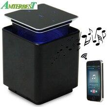 AMTERBEST Blutooth Speaker Portátil Tela de Toque Interruptor de Levitação Magnética Flutuante Rotação de Subwoofer Speaker Hands-free