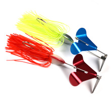 JonStar New style 19g spinner bait fishing lure Buzzbait wobbler chatter bait for carp bass fishing with rotary windmill Blades