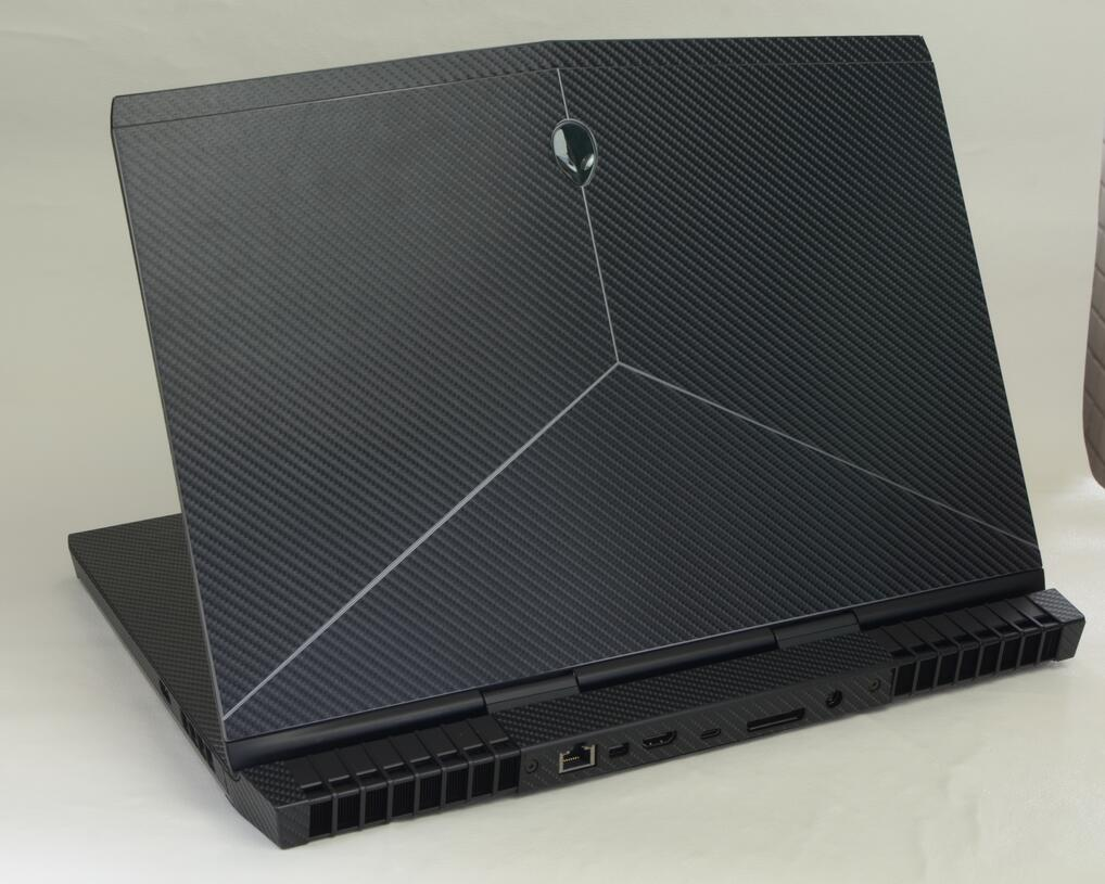 KH Laptop Carbon fiber Leather Sticker Skin Cover Protector for Alienware 17 R4 ALW17C 17.3