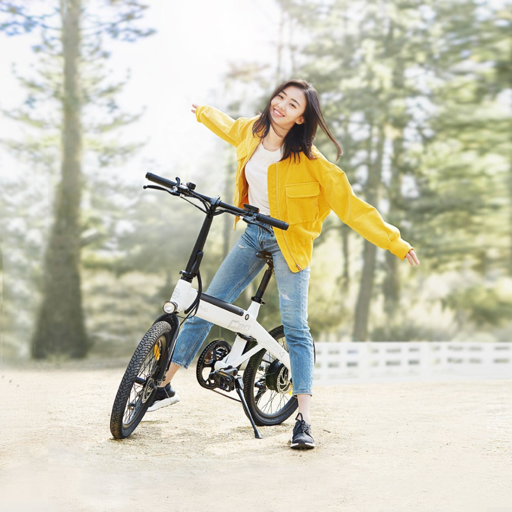 Xiao MI himo 20 polegada cidade ebike bicicleta elétrica 36v10ah 250 w DC motor auxiliar Pas bicicleta elétrica Leve faixa 80 km