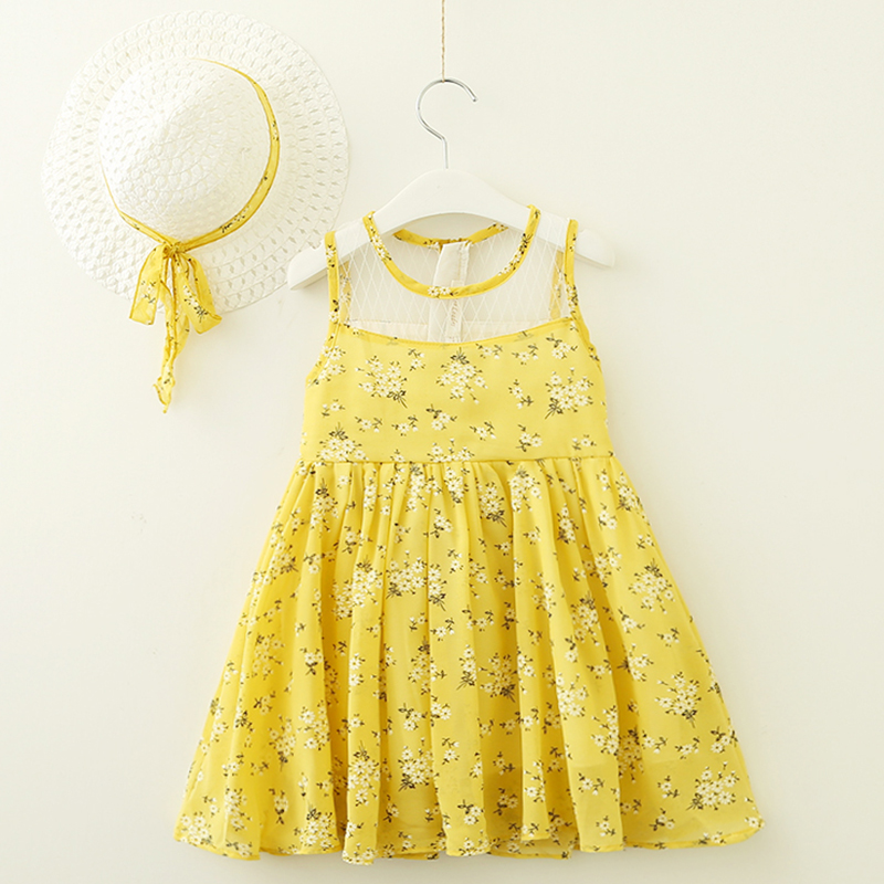 2018 Summer Dress Baby clothing Military Style Brand Girls Dress Girls Navy Wind Backless Stripe Splicing Sundress Clothes Dress