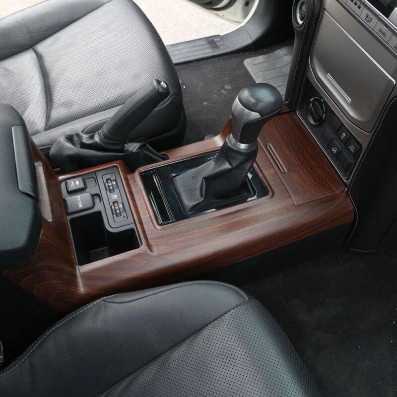 Gelinsi pour Toyota Prado 2018 voiture style bois support de verre panneau couverture garniture cadre autocollant accessoires d'intérieur - 3