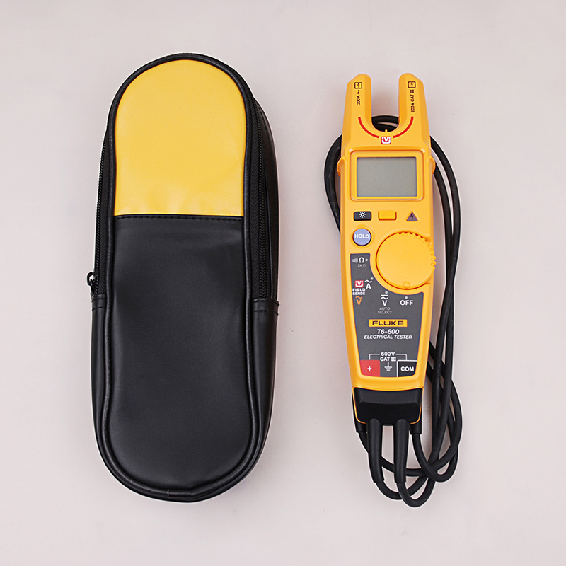 Fluke T6 600 Clamp Continuity Current Electrical Tester Non contact Voltage Clamp Meter Soft Case Carrying