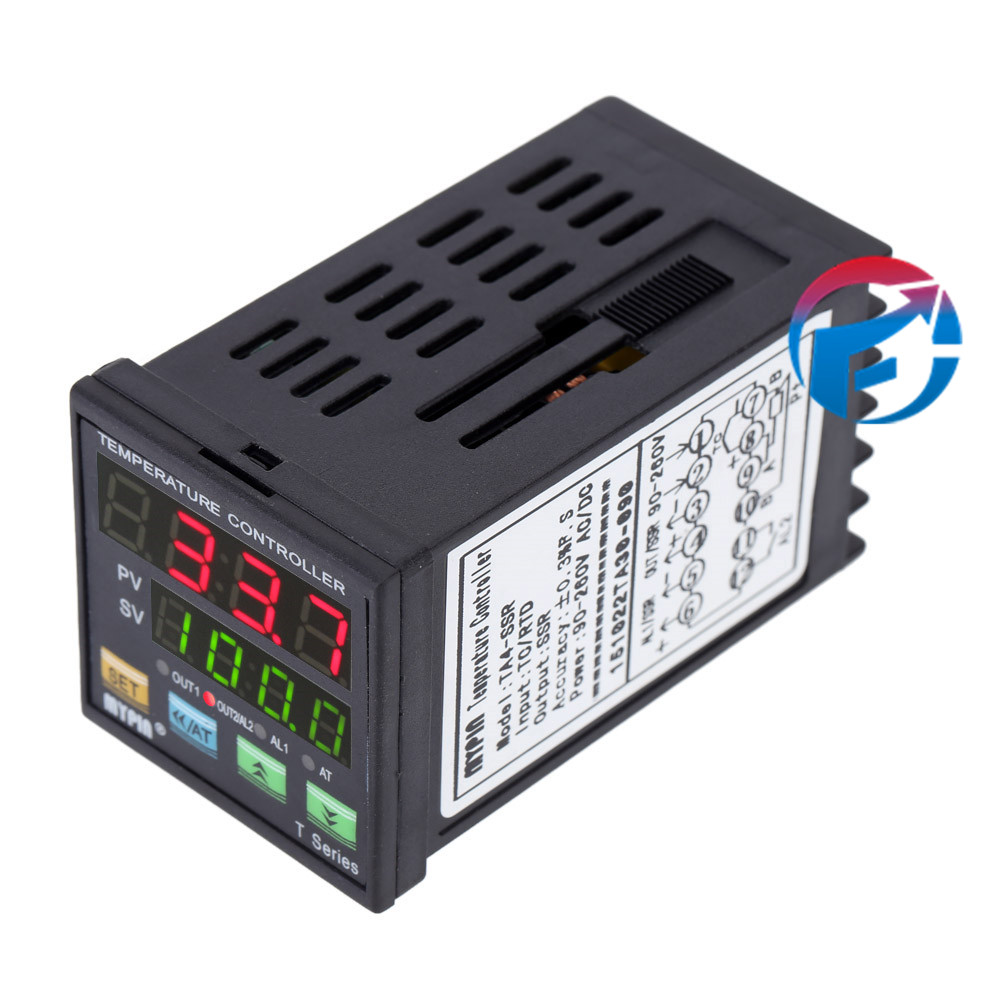 Digital LED PID Thermostat Temperature Controller TA4-SSR SSR Control Output Relay Alarm TC RTD  цены