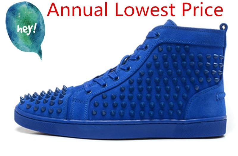 Hommes Spike Stud en cuir chaussures décontractées rivets sneaker à lacets plat haut hommes décontracté en plein air hommes chaussures Zapatillas Hombre - 5