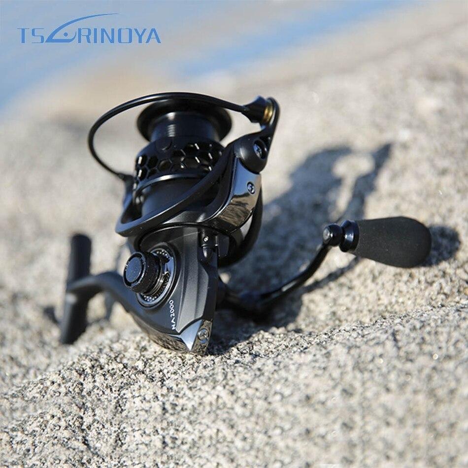 TSURINOYA NA2000-5000 Serie 9BB 5:2:1 del Metallo di Alluminio di Pesca Bobina di Filatura Mare Acqua Salata Bobina di Pesca di Filatura della Carpa Pesce Strumento