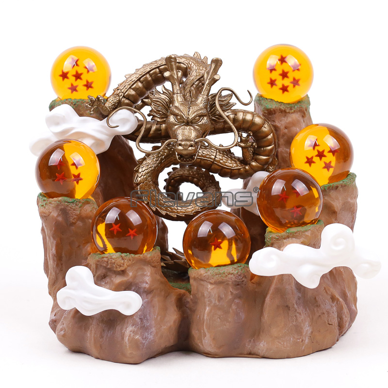 Dragon Ball Z Shenron & Mountain Stand & 7 Crystal Balls PVC Figure Collectible Model Toy Set 6 TypesDragon Ball Z Shenron & Mountain Stand & 7 Crystal Balls PVC Figure Collectible Model Toy Set 6 Types