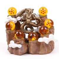 Dragon Ball Z Shenron & Mountain Stand & 7 Crystal Balls PVC Figure Collectible Model Toy Set 6 Types