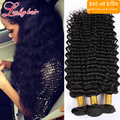 7A grau brasileira virgem cabelo onda profunda 100% Real elegante cabelo brasileiro onda profunda 3 pacotes 26 28 30 polegada cabelo brasileiro barato