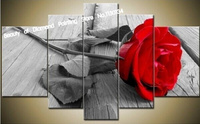 Hurtownie DIY diament malowanie żywicą placu haft rose zdjęcia ścienny do domu dekoracji unikalny prezent 5 sztuk/zestaw