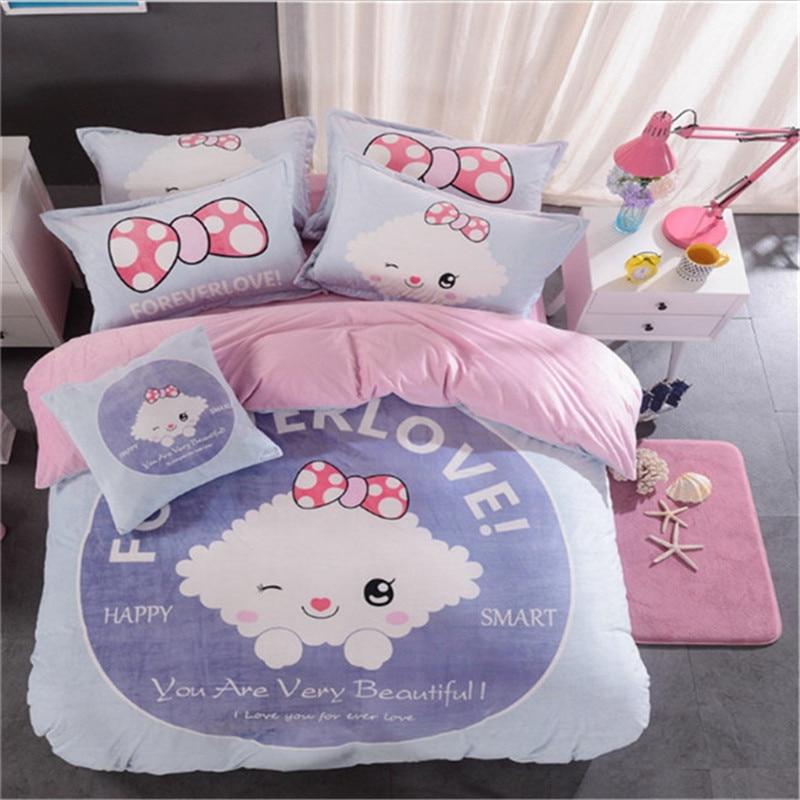 new 2017 comfortable 4pcs adult bedding 1pcs quilt cover/1pcs bed sheet/2pcs pillowcase free shipping