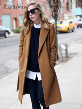 Wool Blend Long Sleeve Lapel Buttons Coat Women Thick Warm Vintage Black Camel Jacket Cocoon Style Trench Coats Plus Size 5XL
